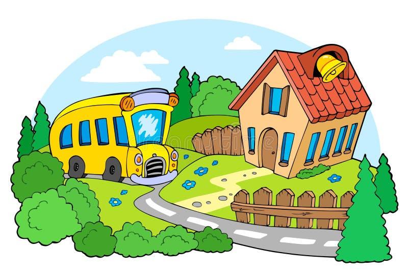 Landschaft mit Schule