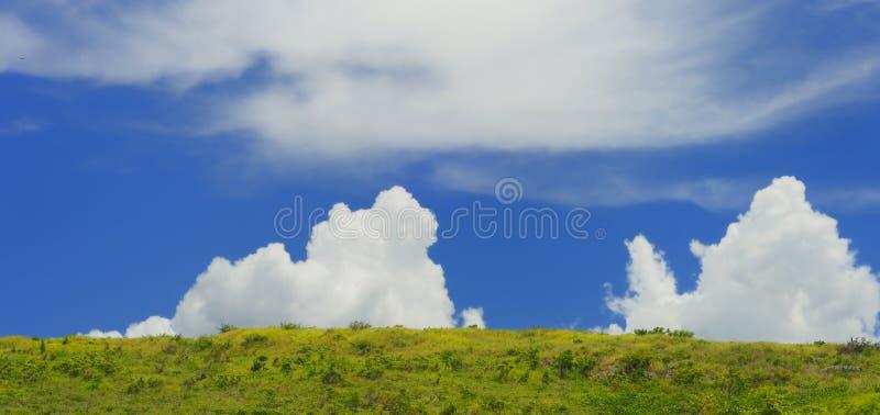 Landschaft mit Wolken stockfoto
