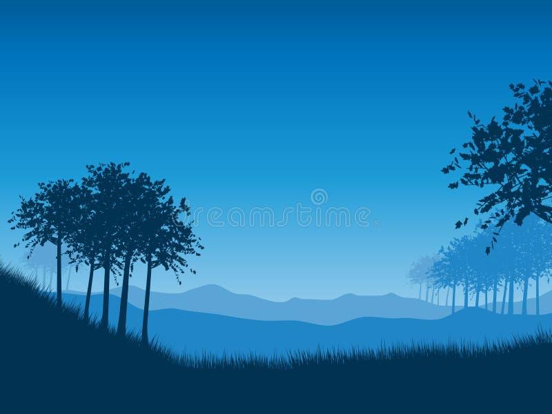 Landschaft nachts lizenzfreie abbildung