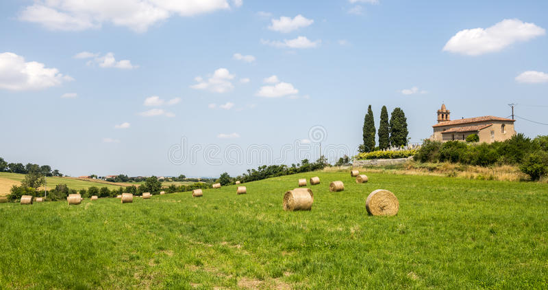 Landschaft nahe Albi (Frankreich) lizenzfreies stockfoto