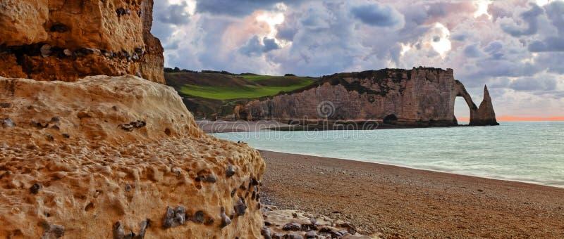 Landschaft in Normandie stockfotografie