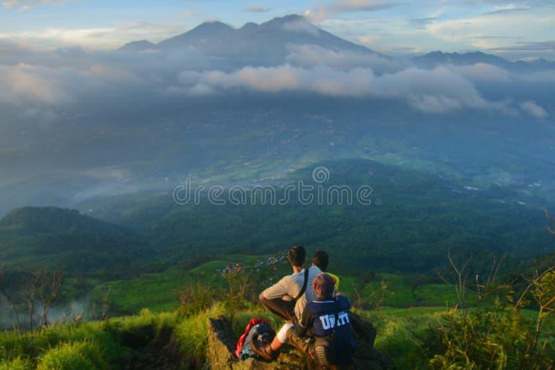 Landschaft in Penanggungan-Berg lizenzfreie stockfotografie