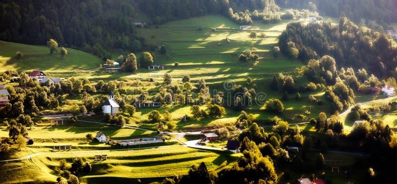 Landschaft in Slowenien lizenzfreie stockbilder