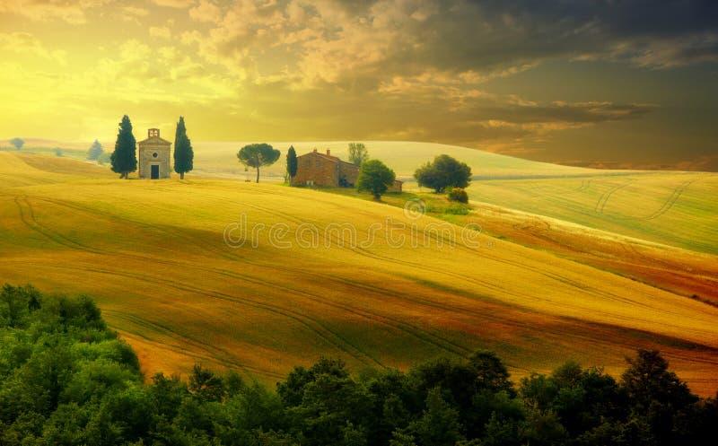 Landschaft in Toskana stockbild