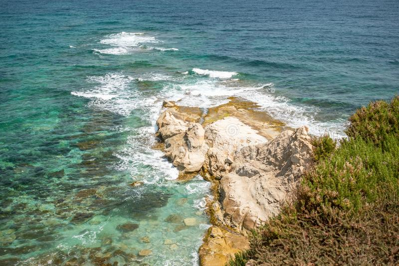 Landschaft um Marsascala Malta stockfotos