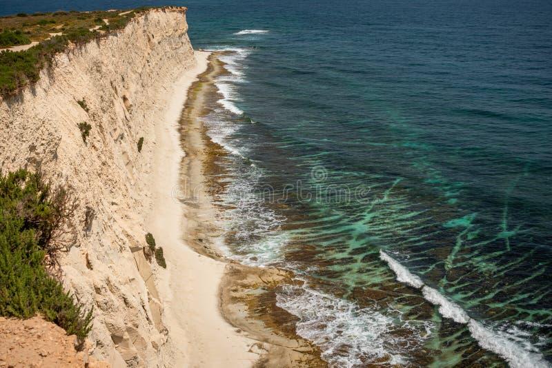 Landschaft um Marsascala Malta lizenzfreies stockfoto