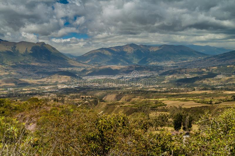 Landschaft um Otavalo, Ecuador lizenzfreies stockbild