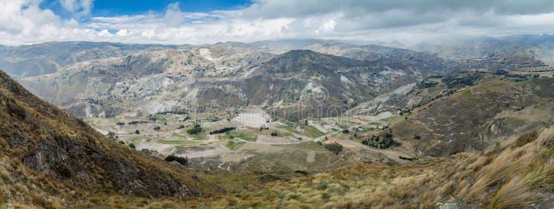 Landschaft um Quilotoa-Krater stockfoto