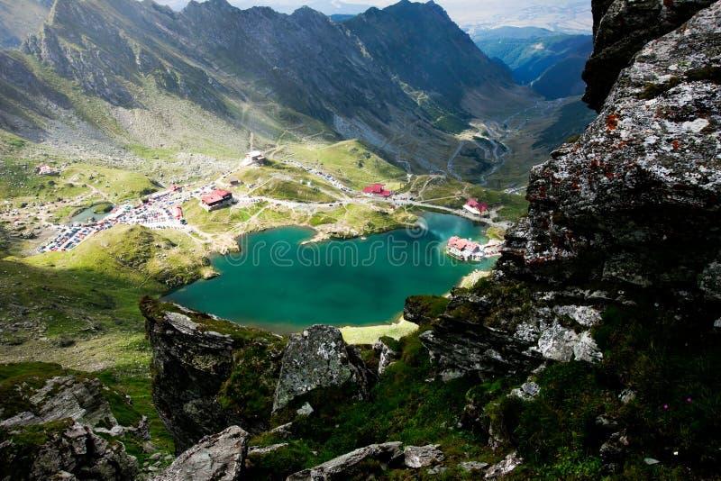 Landschaft vom Balea See, Fagaras stockfotos