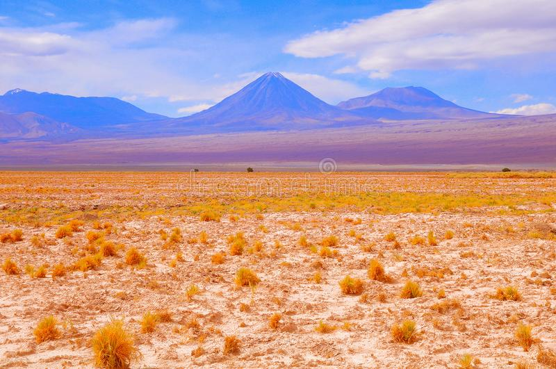 Landschaft von Atacama-Wüste lizenzfreies stockbild