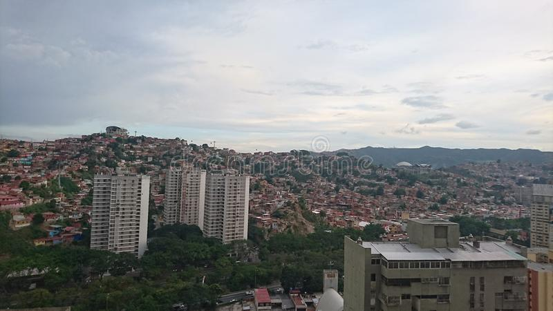 Landschaft von Caracas stockfotografie