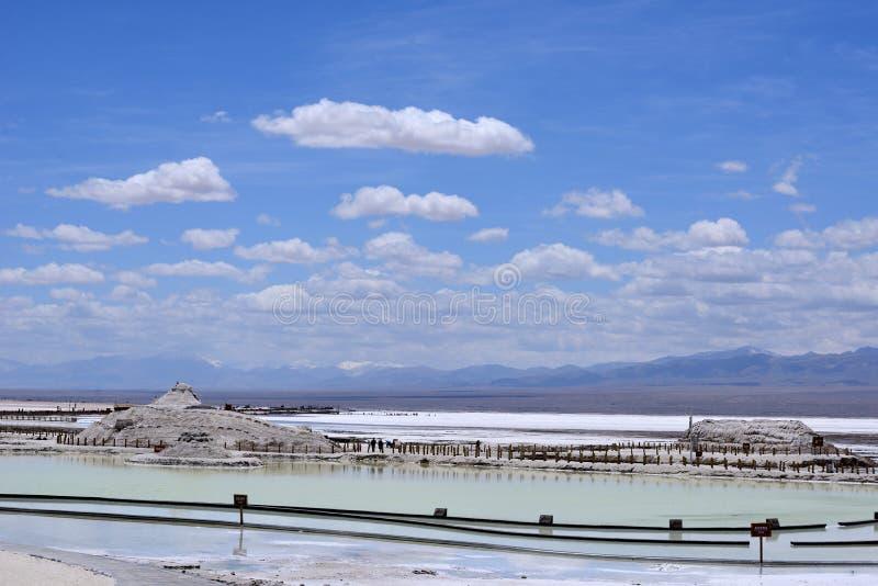 Landschaft von Chaka Salt Lake lizenzfreies stockfoto