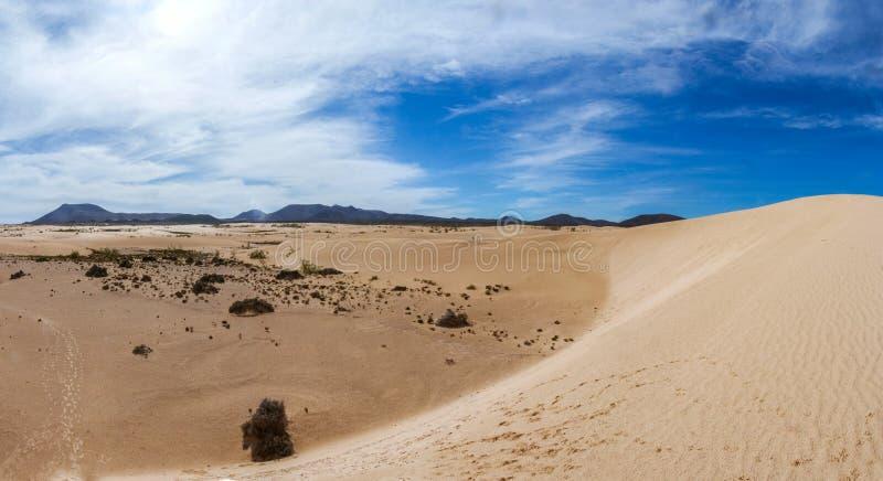Landschaft von Dünen stockbild