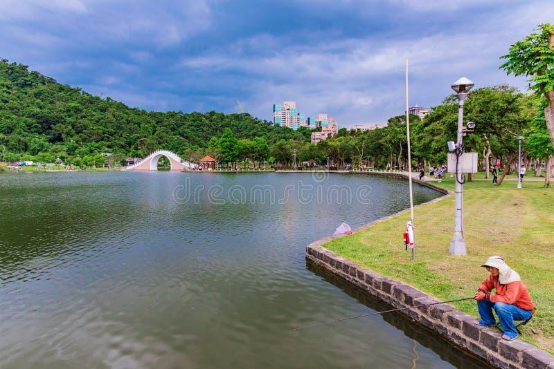 Landschaft von Dahu-Park stockfoto
