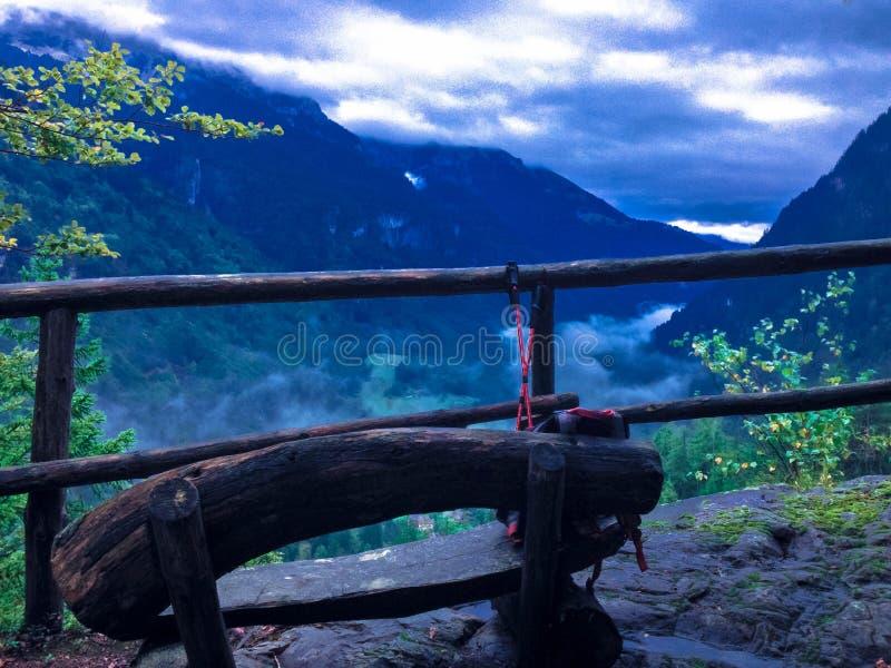 Landschaft von Daones Tal lizenzfreies stockfoto