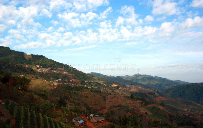 Landschaft von Doi Mae Salong stockfotos