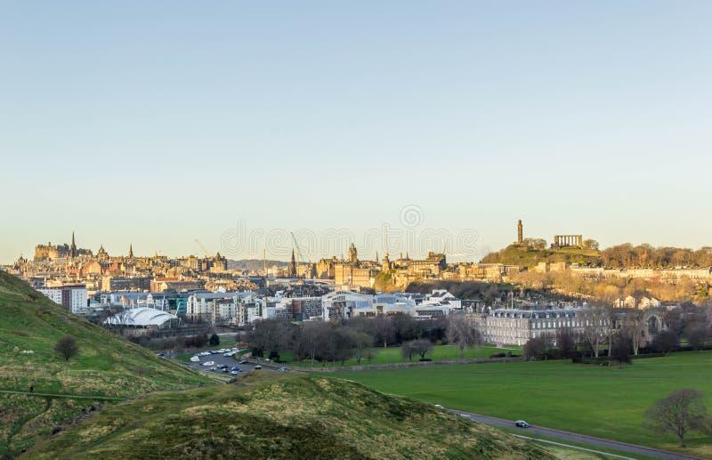 Landschaft von Edinburgh lizenzfreie stockfotos