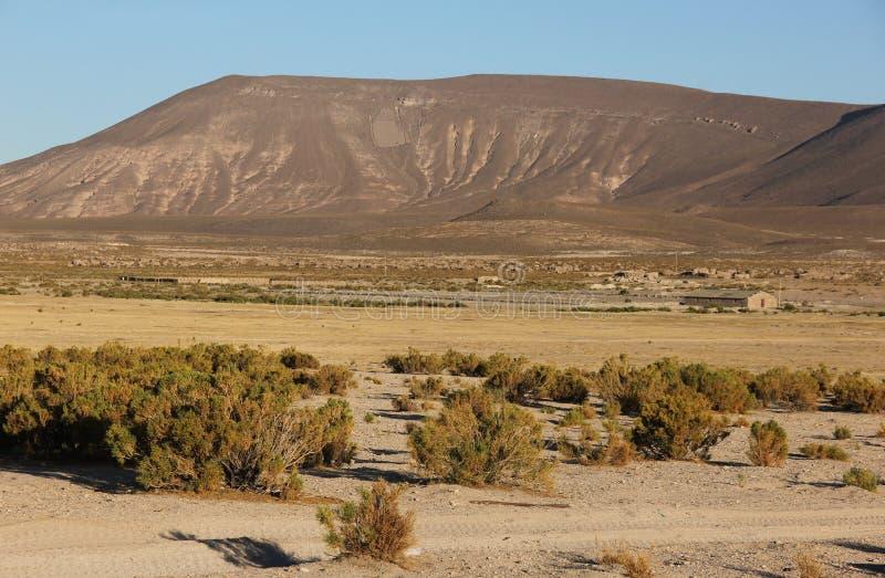 Landschaft von Eduardo Avaroa Andean Fauna Reserve stockfoto