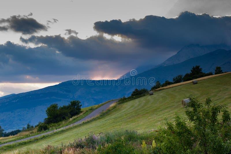 Landschaft von Hautes-Albes lizenzfreies stockfoto