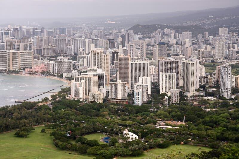 Landschaft von Honolulu, Oahu, Hawaii lizenzfreies stockbild