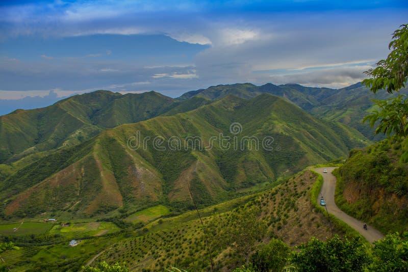 Landschaft von Kolumbien, Valle Del Cauca stockfotografie
