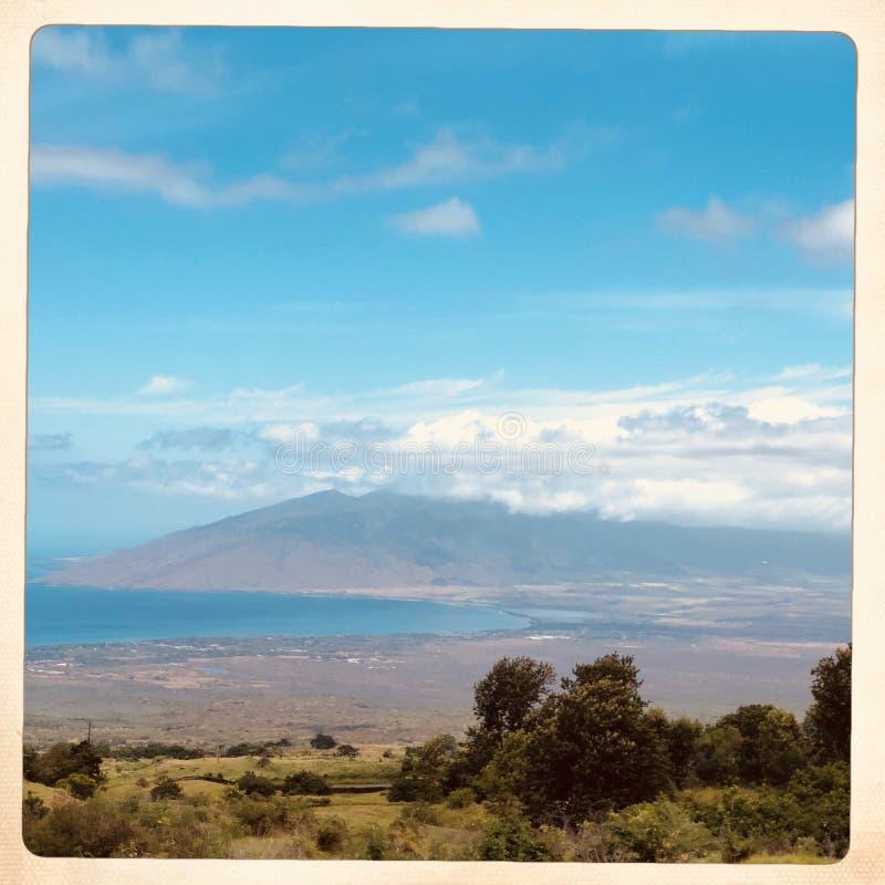 Landschaft von Kula in Hawaii lizenzfreie stockbilder