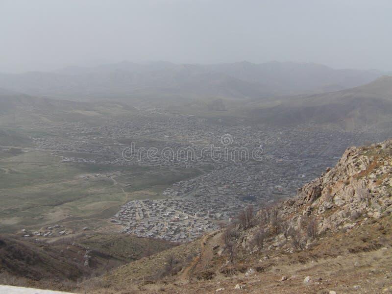 Landschaft von Kurdistan stockbilder