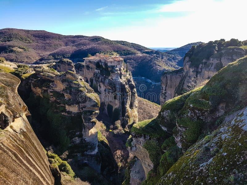 Landschaft von Meteora lizenzfreies stockbild