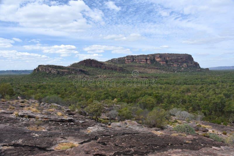Landschaft von Nourlangie, Ansicht von Nawurlandja lizenzfreies stockfoto