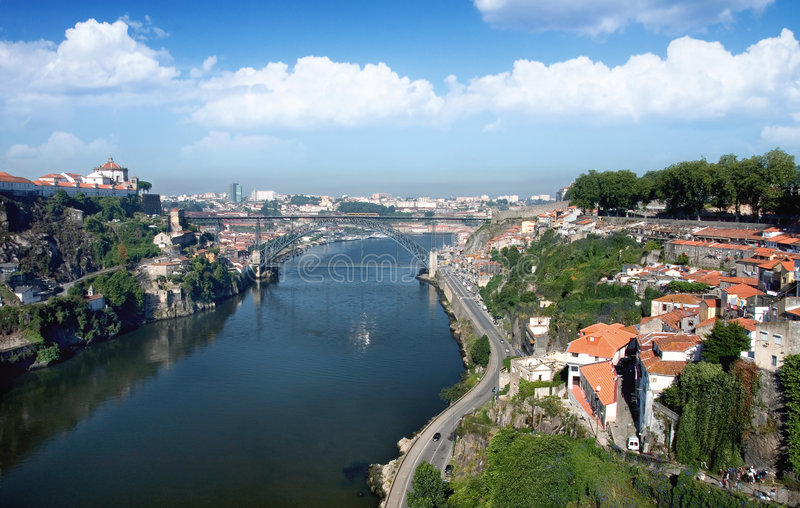 Landschaft von Oporto, Portugal stockbild