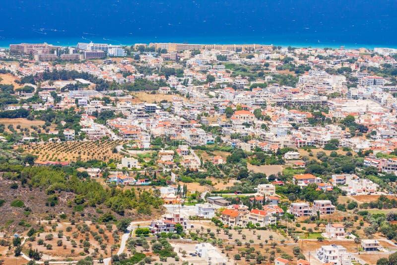 Landschaft von Rhodes Island stockfotografie
