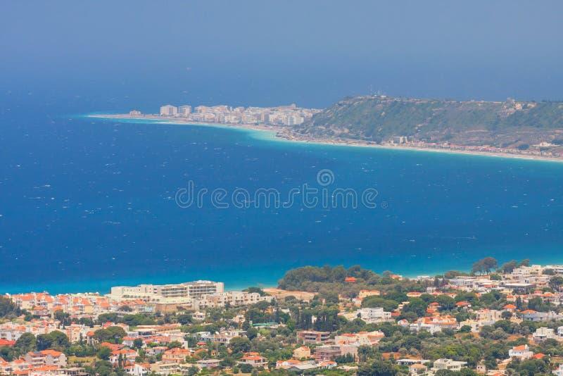 Landschaft von Rhodes Island lizenzfreie stockbilder