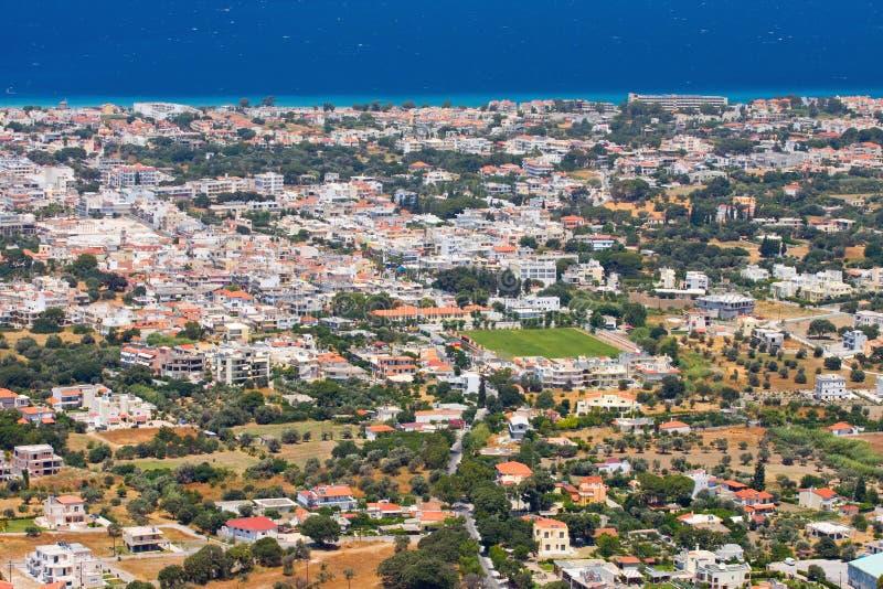 Landschaft von Rhodes Island, Griechenland lizenzfreie stockfotos