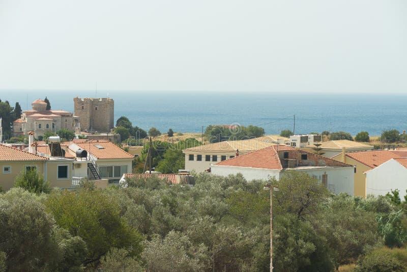 Landschaft von Samos-Insel stockfoto