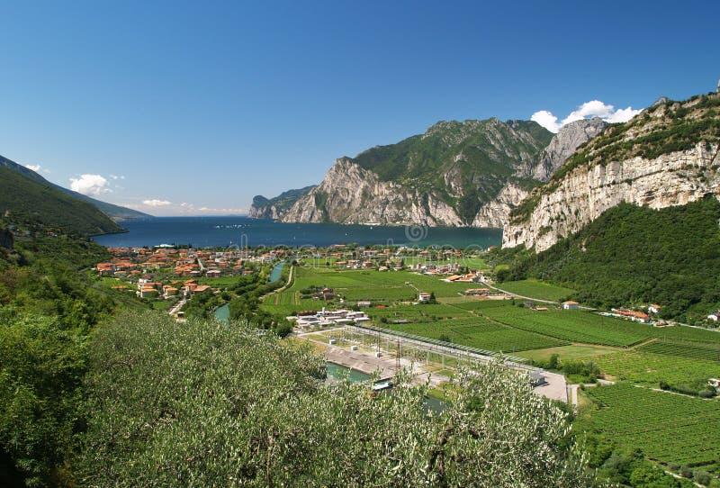 Landschaft von See Garda stockfoto