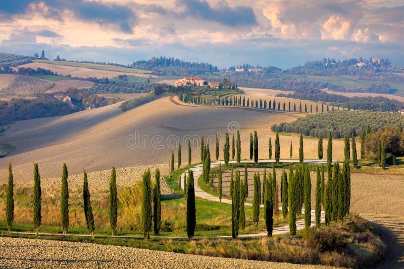 Landschaft von Toskana-Natur, ländliches Italien lizenzfreie stockfotos
