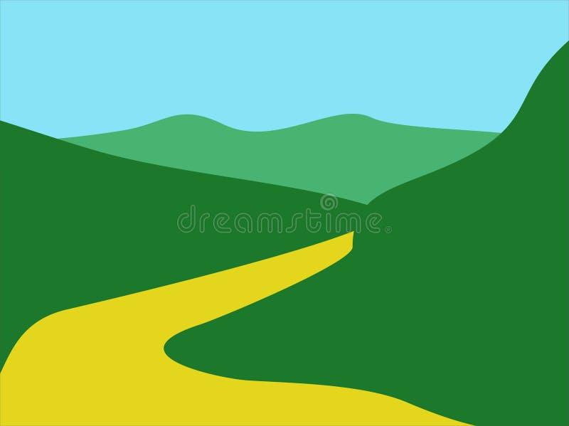 Landschaften 404 stock abbildung