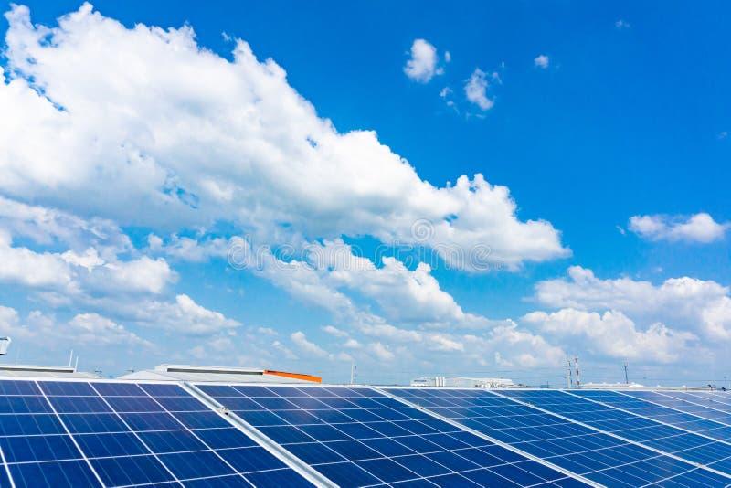 Landschaftsansicht der Solarenergie, grüne Energie, sichere Umwelt, reine Energie, Thailand stockfoto