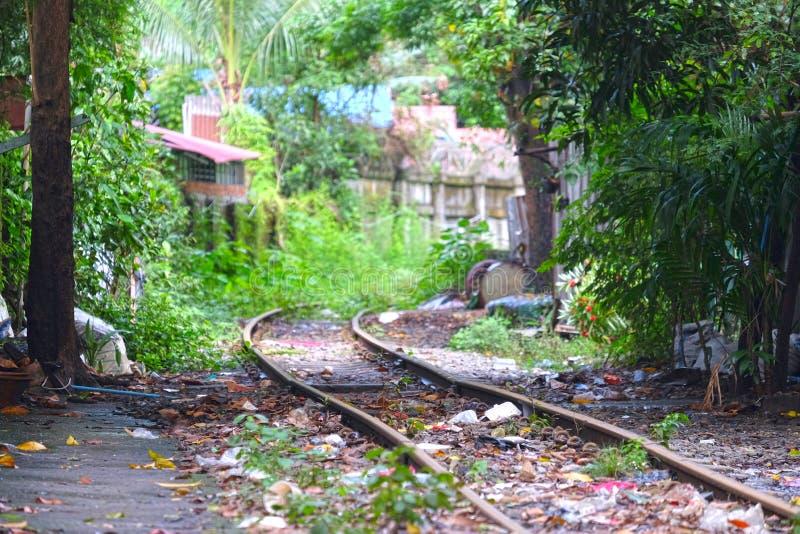 Landschaftsansicht in Rangun, Myanmar lizenzfreie stockfotografie