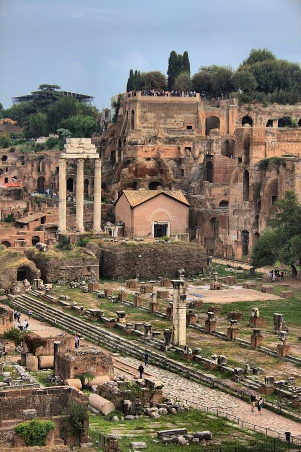 Landschaftsansicht Roman Forums in Rom stockfoto