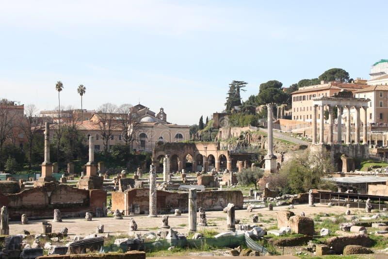 Landschaftsansicht Roman Forums in Rom lizenzfreie stockbilder