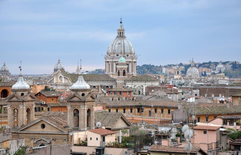 Landschaftsansicht von Rom stockfotos