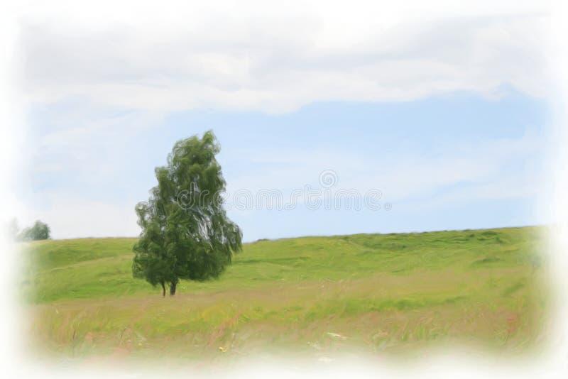 Landschaftsbaum auf dem Feld stockbilder