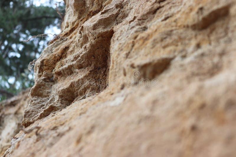 Landschaftsfelsensand-Natursteinfall stockbilder