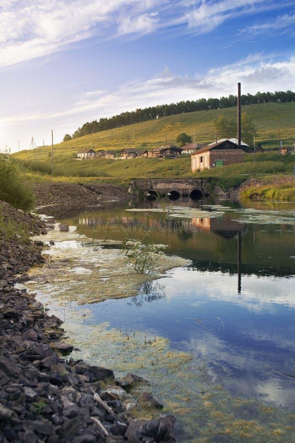 Landschaftsfluß lizenzfreies stockfoto