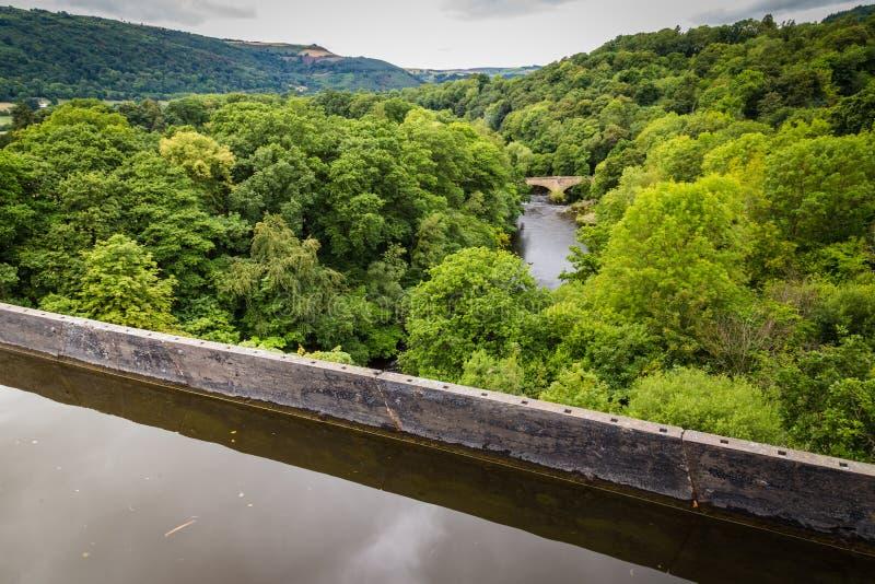 Landschaftsfluß Dee Wales, Großbritannien stockfoto