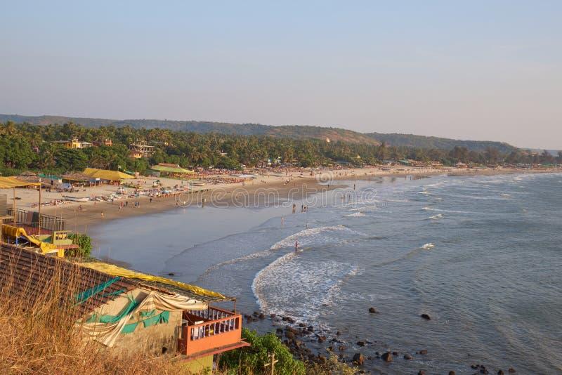 Landschaftsfoto der Küstenlinie und der sandigen Strände mit Höhepunkt in der hohen Auflösung Seelinie, sandig, Strand und Wald a lizenzfreie stockfotografie