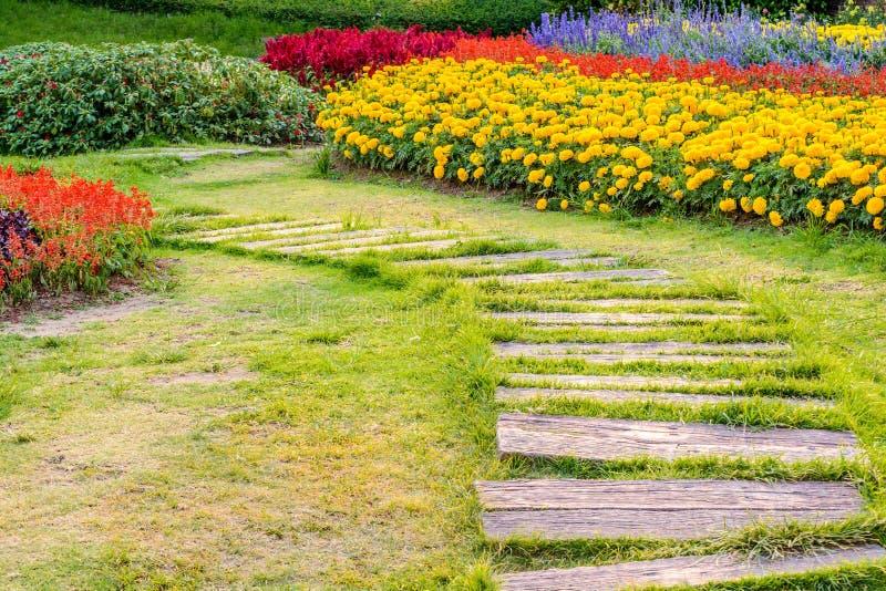 Landschaftsgestaltung im Garten lizenzfreies stockbild