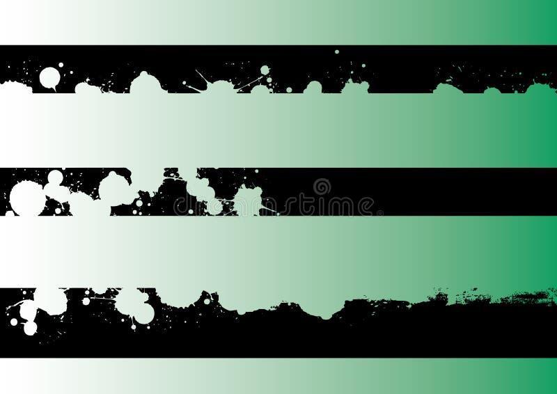 Landschaftsgraphik-Streifen - Tänzer stock abbildung