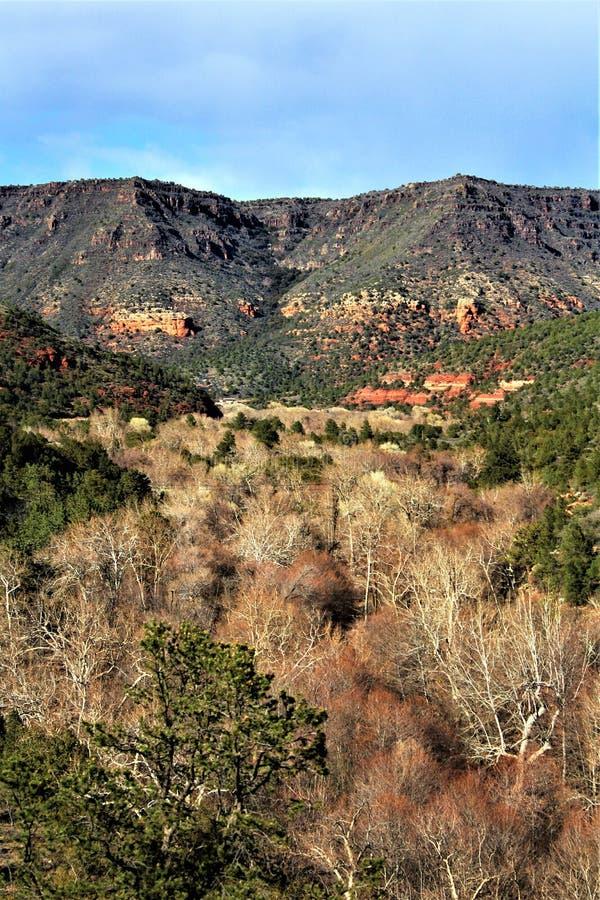 Landschaftslandschaft, Maricopa County, Sedona, Arizona, Vereinigte Staaten stockbild